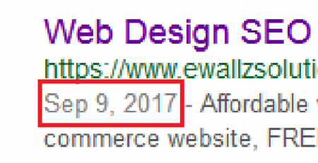 remove google date snippet