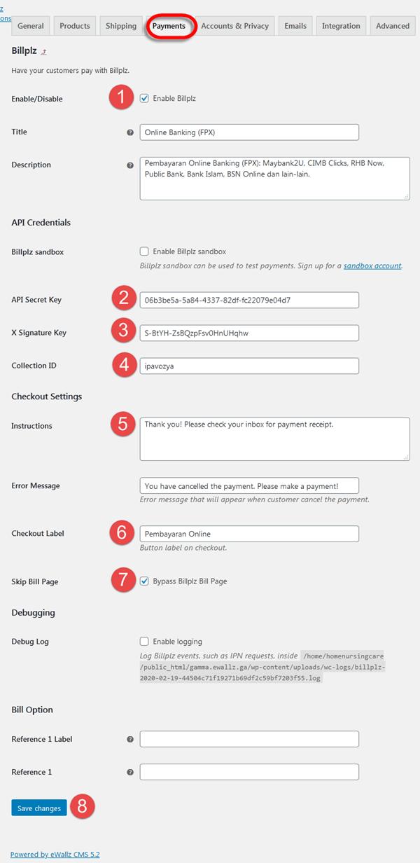 Billplz Malaysia Payment Gateway Setup