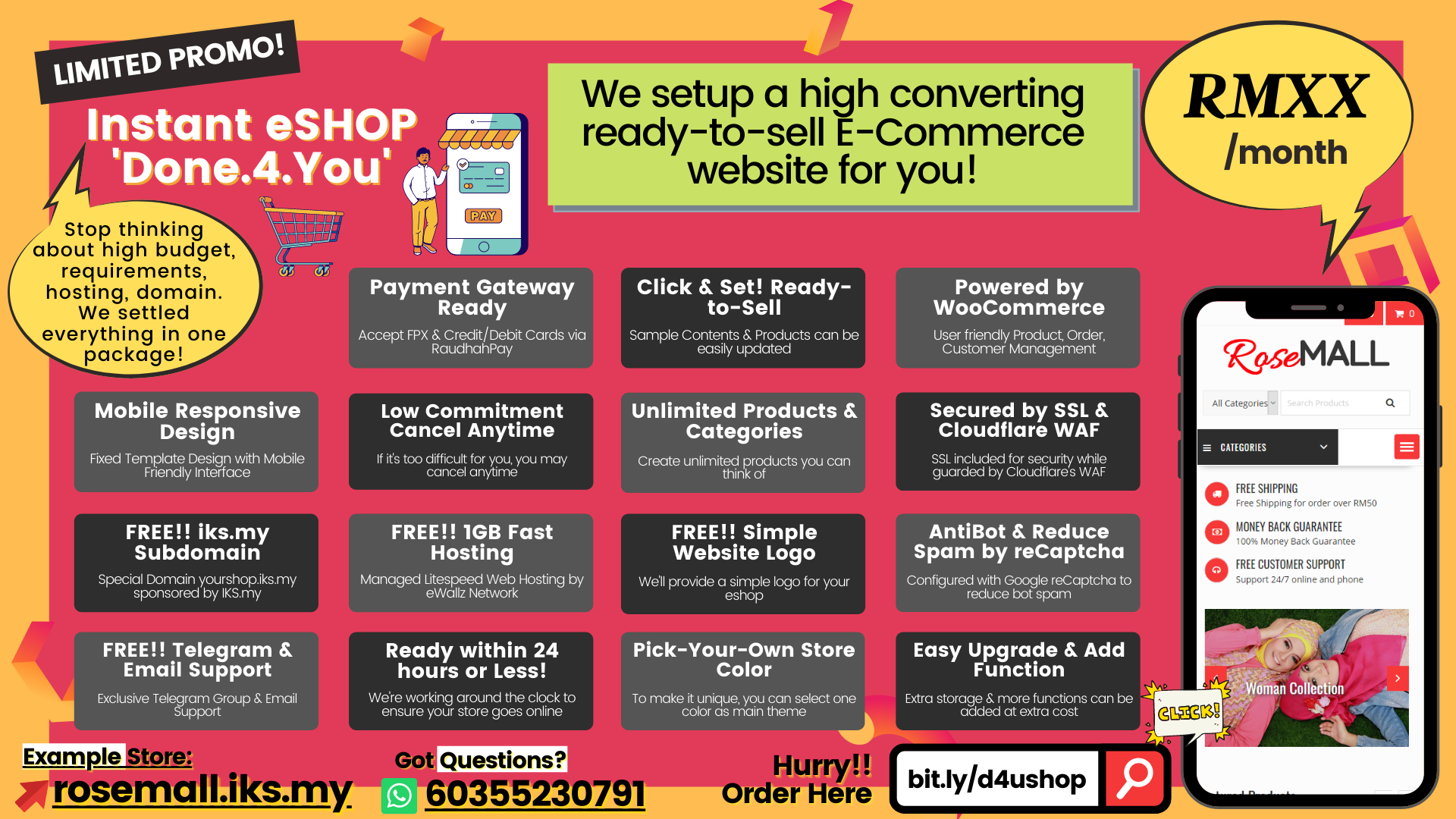 Affordable E-Commerce Web Package