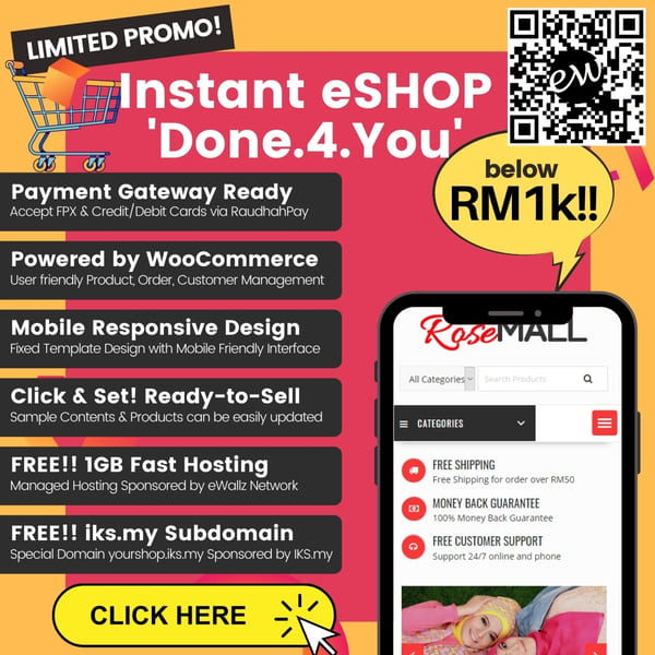 Malaysia E-Commerce Website Pricing Promo